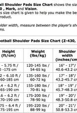 VISION I Football shoulder pad, QB-WR-DB