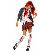 Zombie Schoolmeisje kostuum