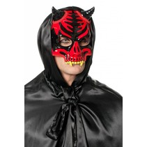 Doodskop masker met diadeem rood