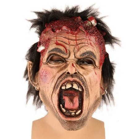 Masker schroef door hoofd