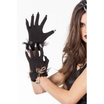 Handschoenen Halloween met doodskopjes