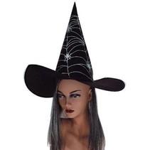 Heksenhoed spin met haar