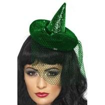 Mini heksenhoedje groen