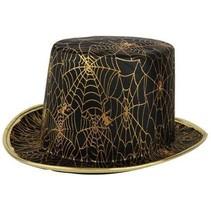 Tophoed zwart met gouden web