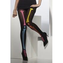 Neon skeletten print panty