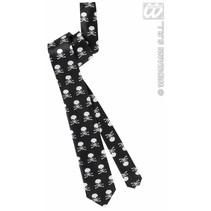 Satijnen stropdas met schedels