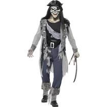 Skelet Piraat man kostuum