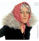 Oma-Heksenpruik met hoofddoek