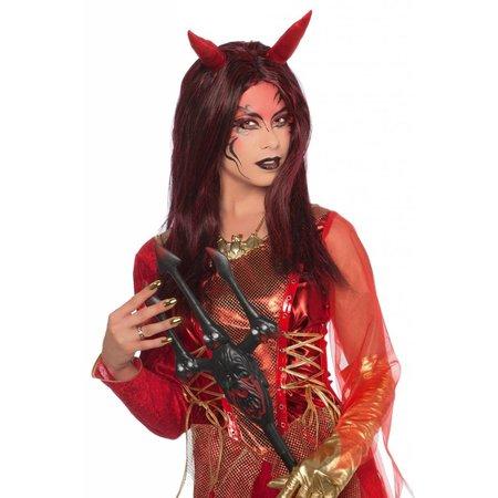 Duivel dame pruik Lindsey