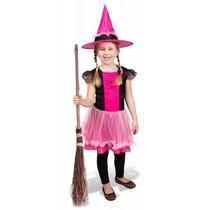 Heksenjurk kind met roze hoed