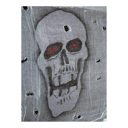 Decoratie doek met print Doodskop