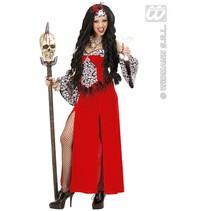 Vrouwelijke voodoo priester kostuum