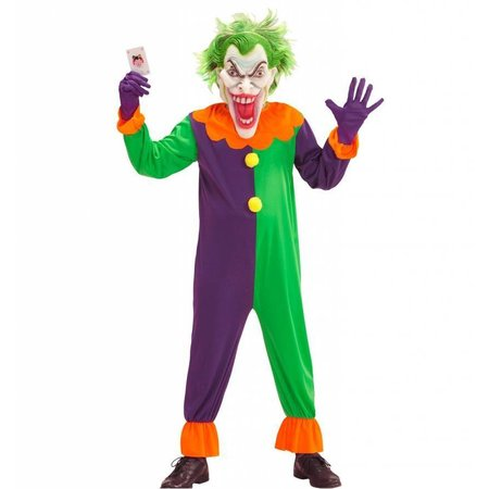 Evil joker clown horror