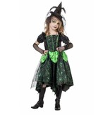Heksenjurk kind spinnenweb groen