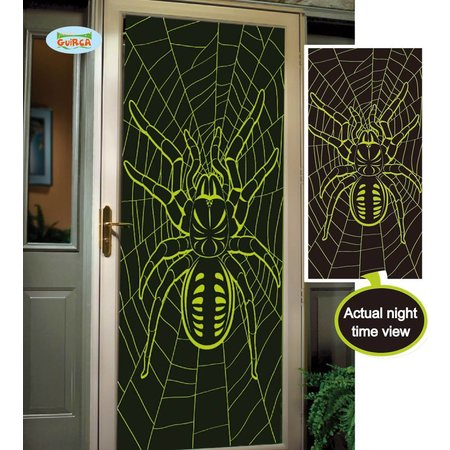 Fluoriserende deur decoratie spin 75x150cm