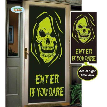 Fluoriserende deur decoratie scarry skull