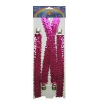 Bretels pailletten pink