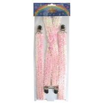 Bretels pailletten roze