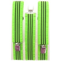 Bretel + rouches fluor groen