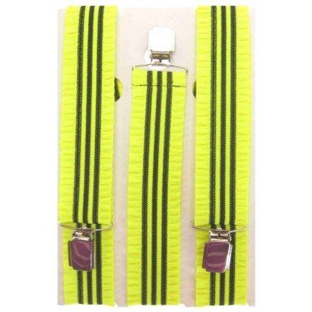 Bretel + rouches fluor geel