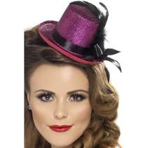 Mini hoge hoed paars