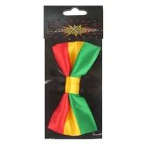 Strik satijn rood/geel/groen