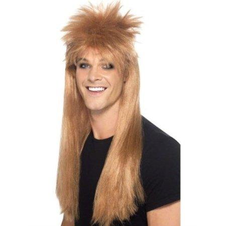 80's Rocker pruik bruin