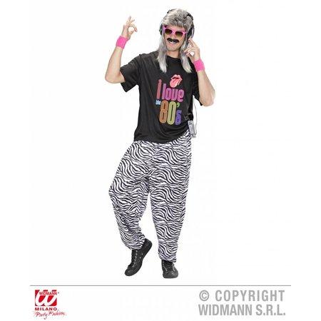 Baggy broek 80's zebra