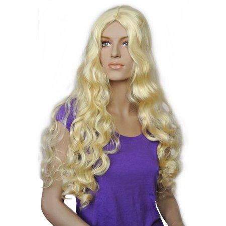 Pruik Lang blond haar Cindy