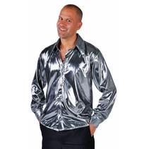 Blouse metallic zilver elite