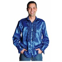 Rouches blouse luxe kobalt