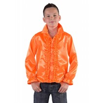 Hippie/Disco blouse kind oranje