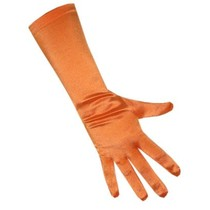 Handschoenen satijn stretch luxe oranje