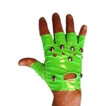 Punk handschoenen fluor groen