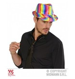 Regenboog pailletten hoed