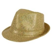 Hoed funk glitter goud