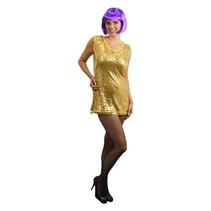 Glitterjurkje pailletten goud