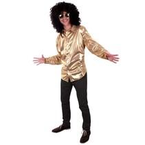 Glitter disco blouse goud