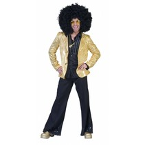Disco jas goud man