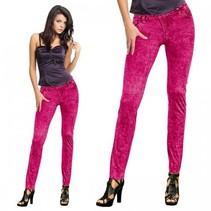 Legging jeans neon roze