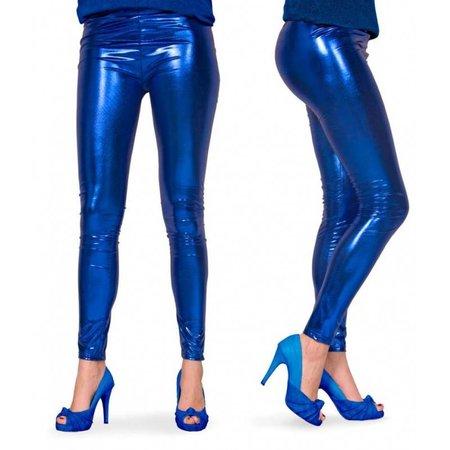 Legging Metallic Blauw