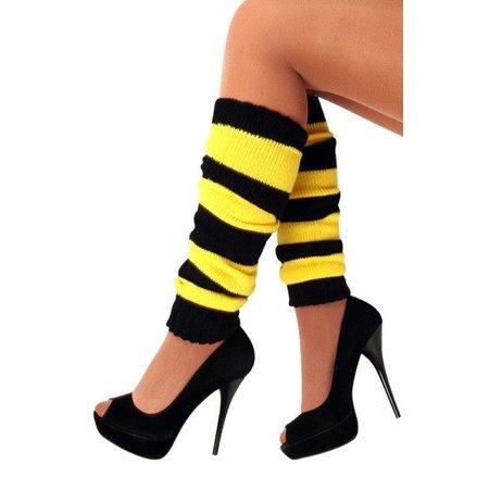 Beenwarmers zwart/geel
