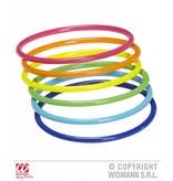 Armband 18 ringen neon multikleuren