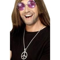 Halsketting hippie peace