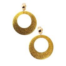 Oorbellen disco glitter goud