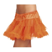 Tule petticoat neon oranje