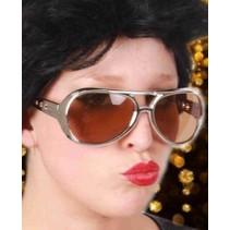 Bril Elvis zilver disco