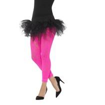 Legging kant neon roze 80's
