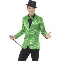 Colbert groen pailletten