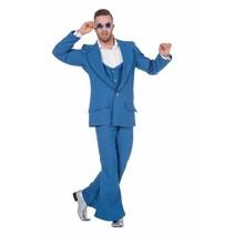 Disco Night fever kostuum heren lichtblauw